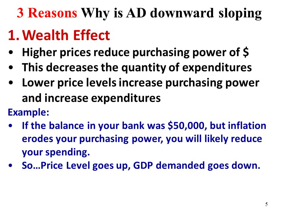 3 Reasons Why is AD downward sloping