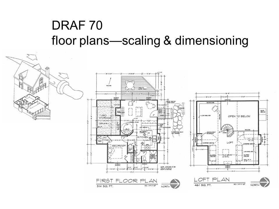 draf 70 floor plans scaling dimensioning ppt download