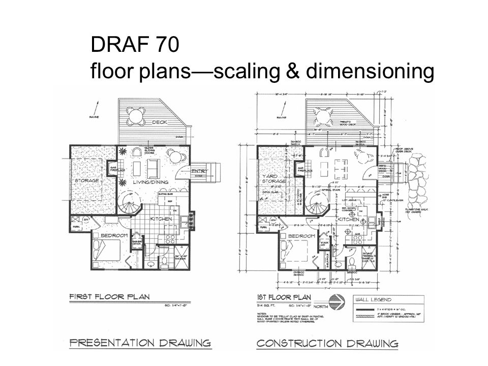 DRAF 70 Floor Plans—scaling & Dimensioning.
