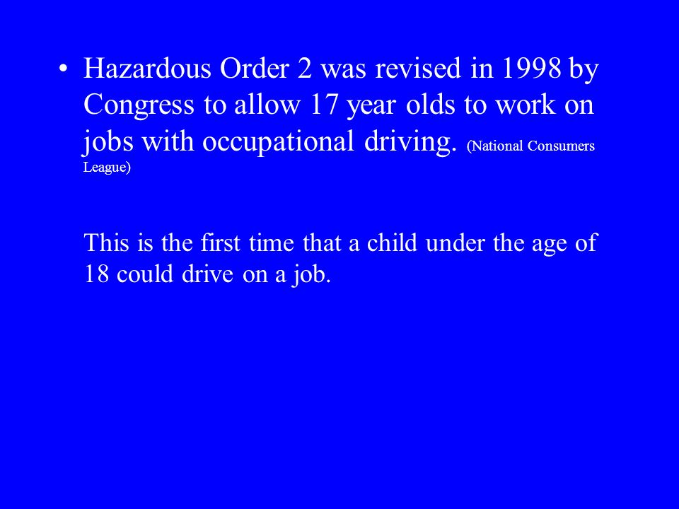 Child Labor Laws Written by Barbara Mackessy ppt download