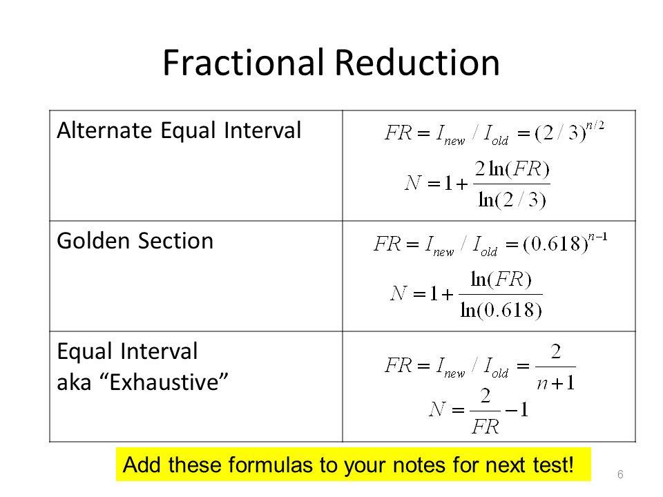 L24 numerical methods part 4 ppt download fractional reduction alternate equal interval golden section publicscrutiny Images