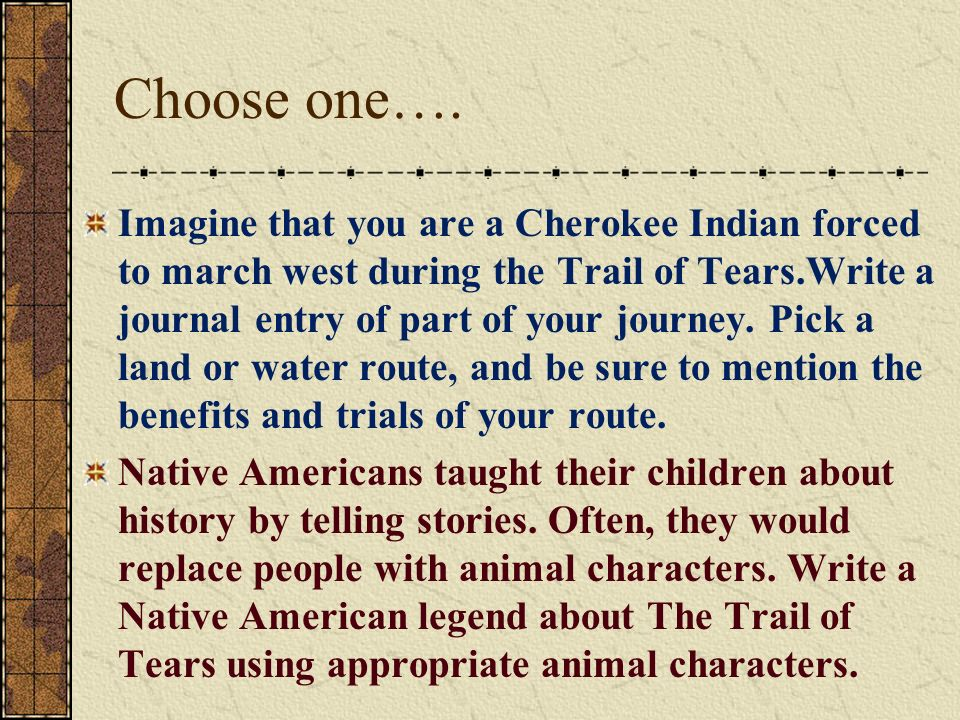 A Brief History of The Trail of Tears - ppt video online