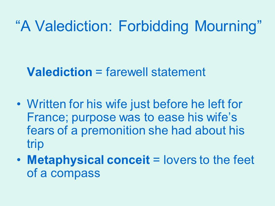 5 A Valediction Forbidding Mourning