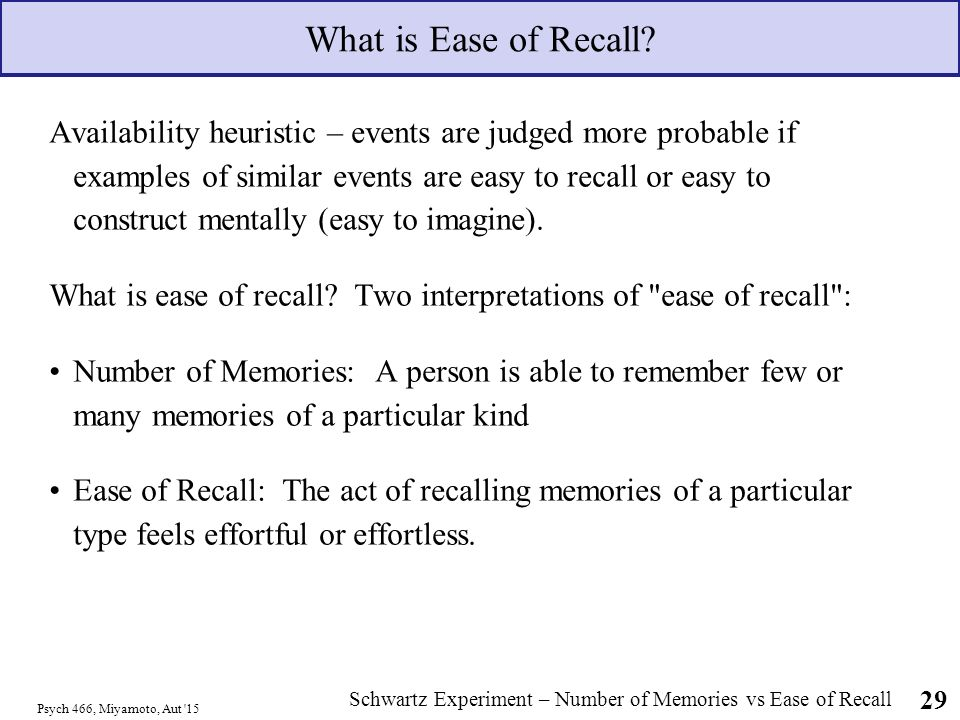 Summary -> availability heuristic definition and examples verywell.