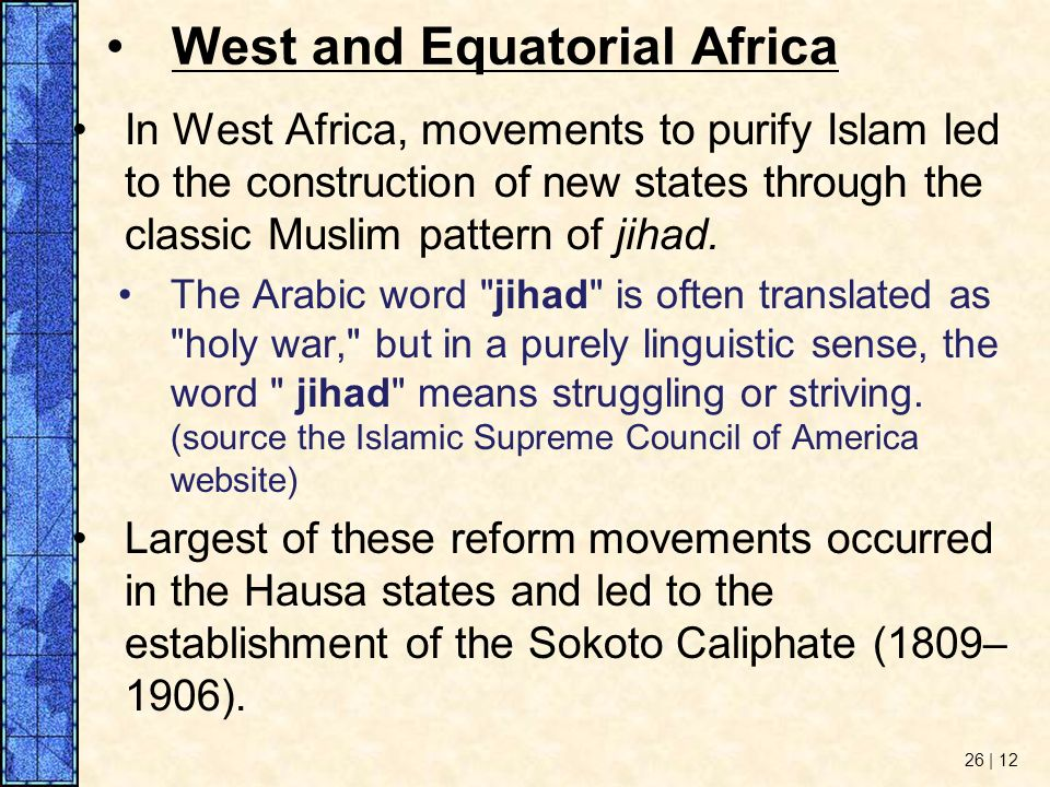 West and Equatorial Africa
