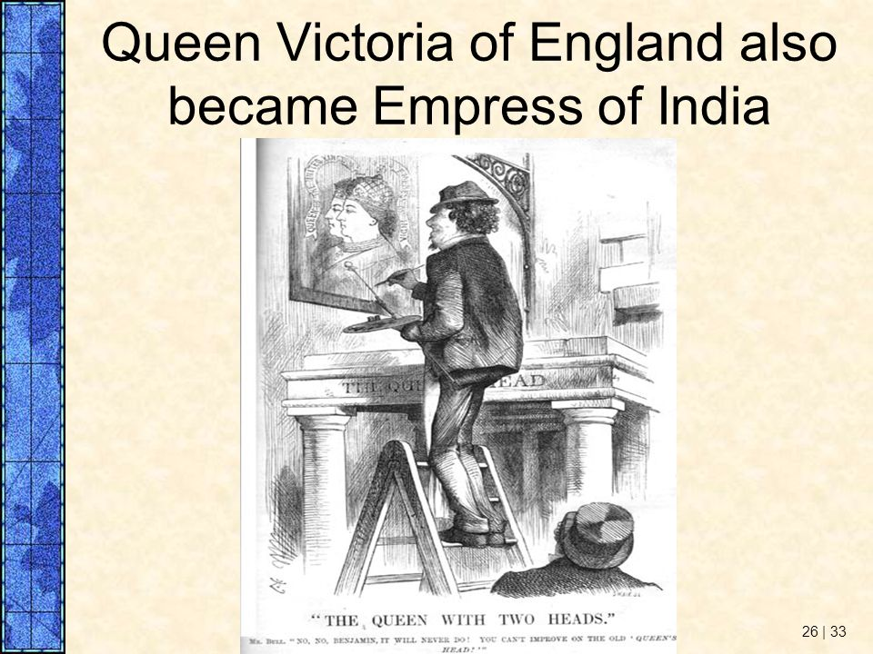 Queen Victoria of England also became Empress of India