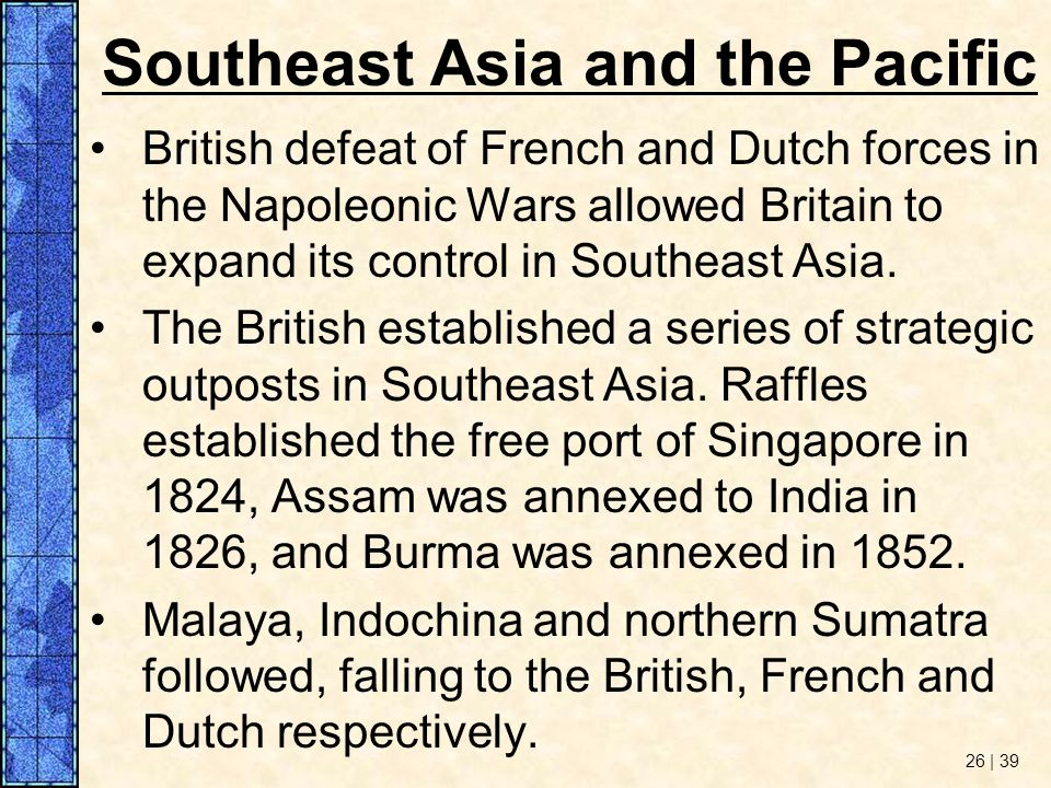 Southeast Asia and the Pacific