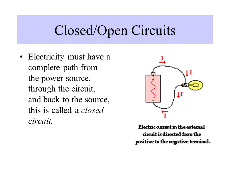 Closed/Open Circuits