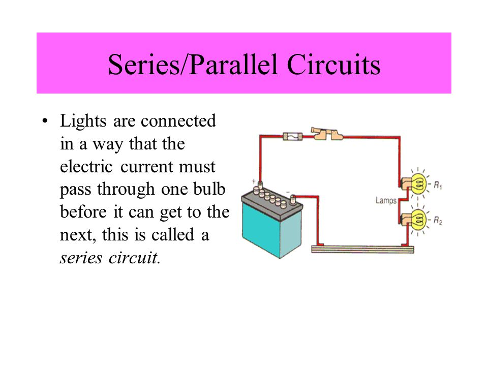 Series/Parallel Circuits