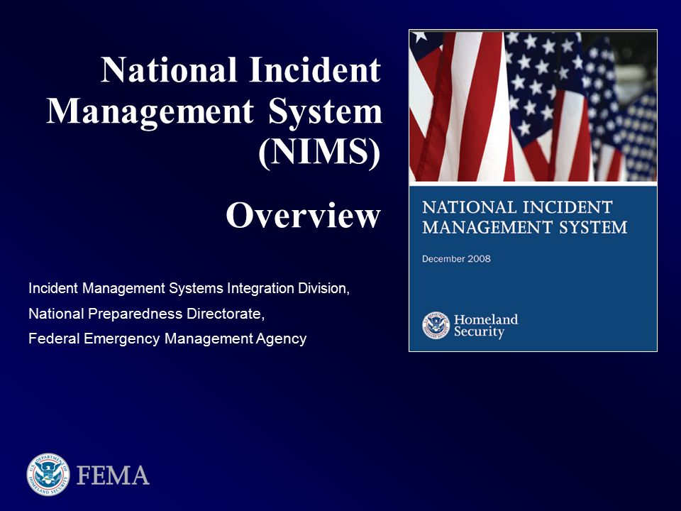 National Incident Management System Nims Ppt Video