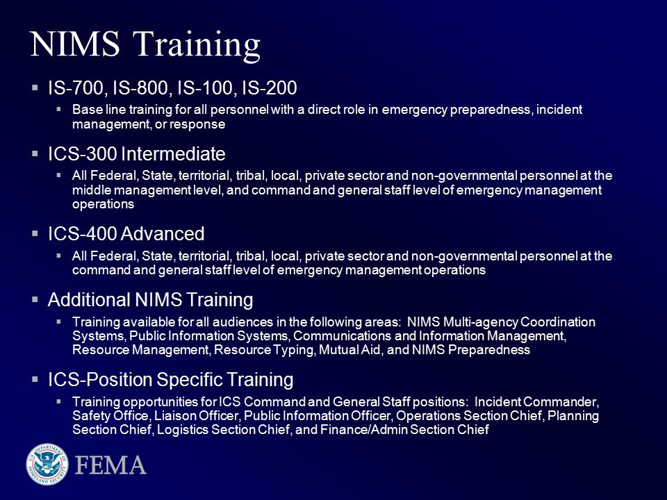 National Incident Management System (NIMS) - ppt video online download