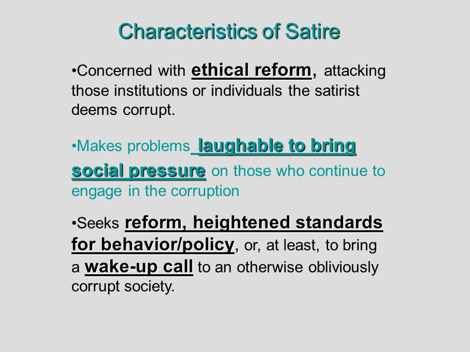 Devices Of Satire Ppt Download