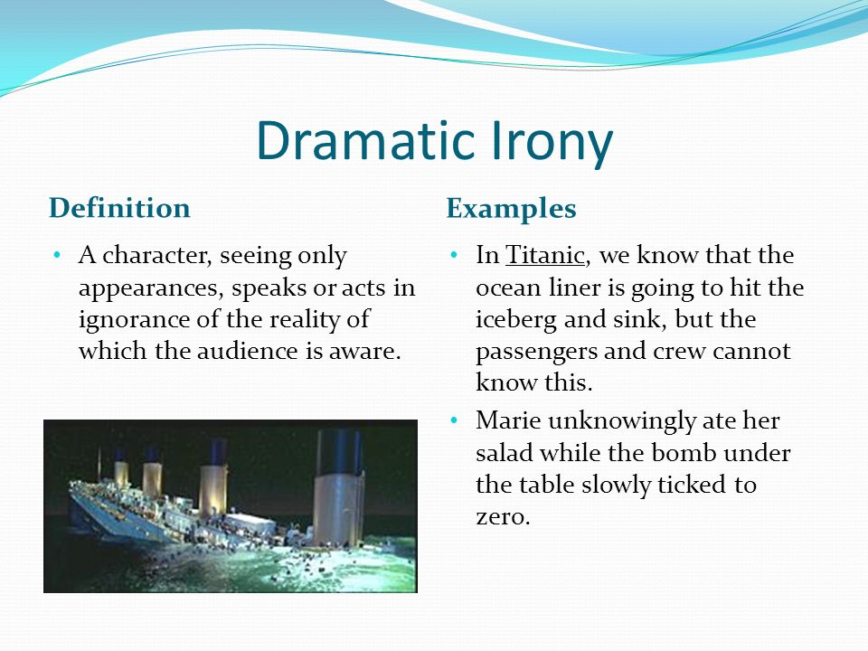 examples of dramatic devices
