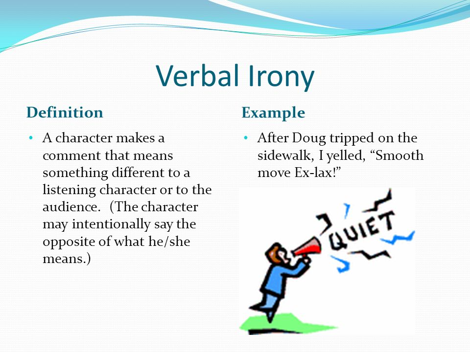 Examples Of Verbal Irony Image Collections Example Cover Letter