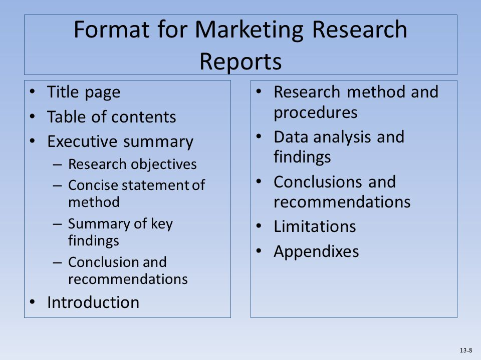 conclusion on marketing research