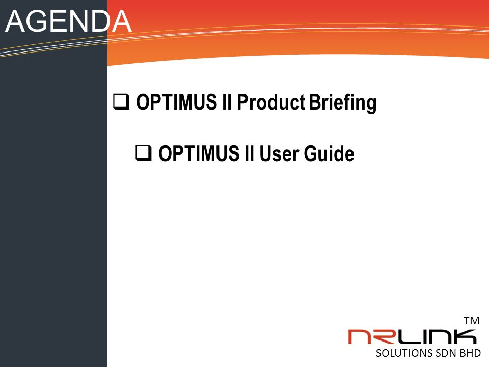 nr link optimum ii adsl 2 2 service verification test gear opii tm rh slideplayer com Example User Guide User Webcast