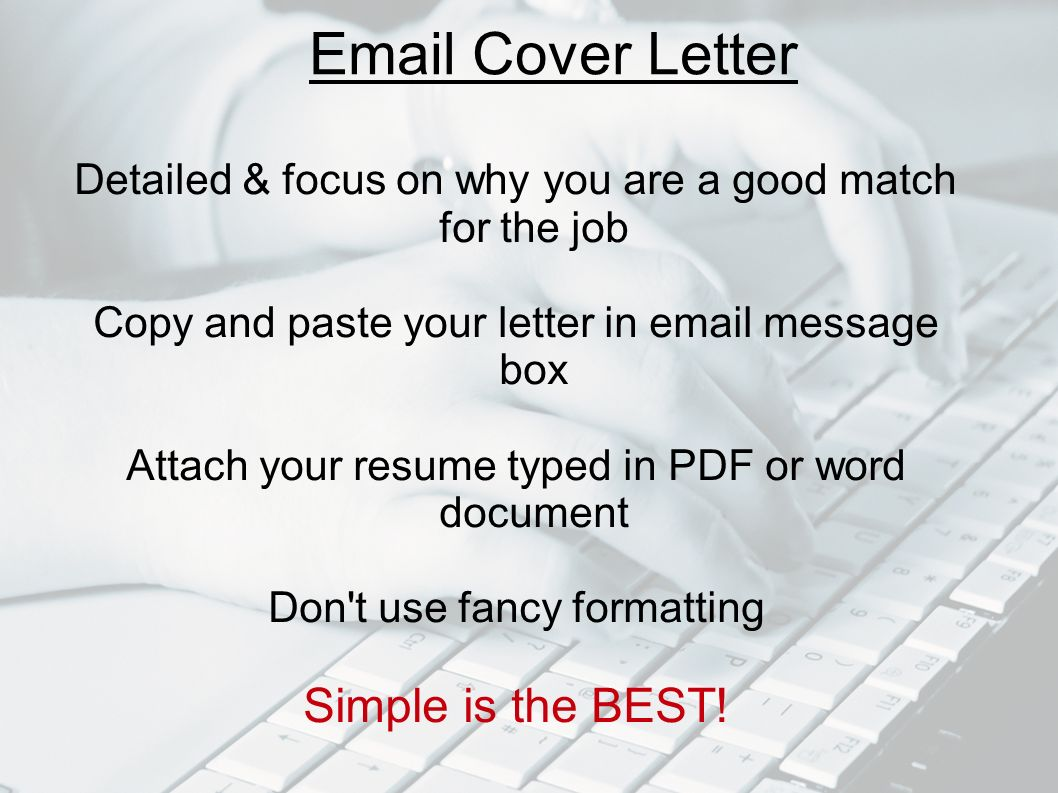Cover Letter / Curriculum Vitae - ppt video online download
