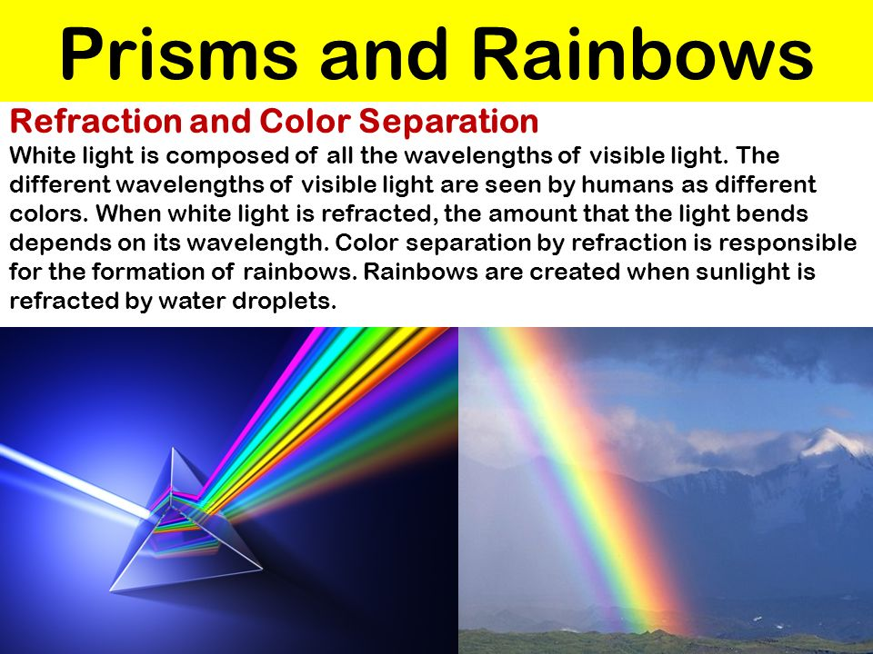 Prisms and Rainbows Refraction and Color Separation