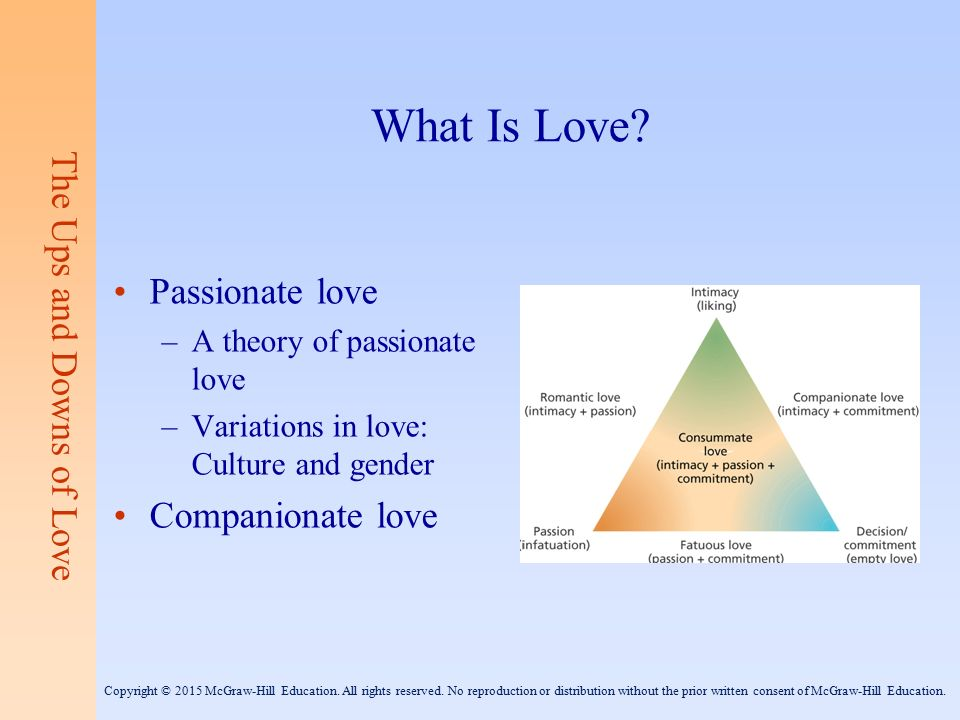 what is passionate love in psychology