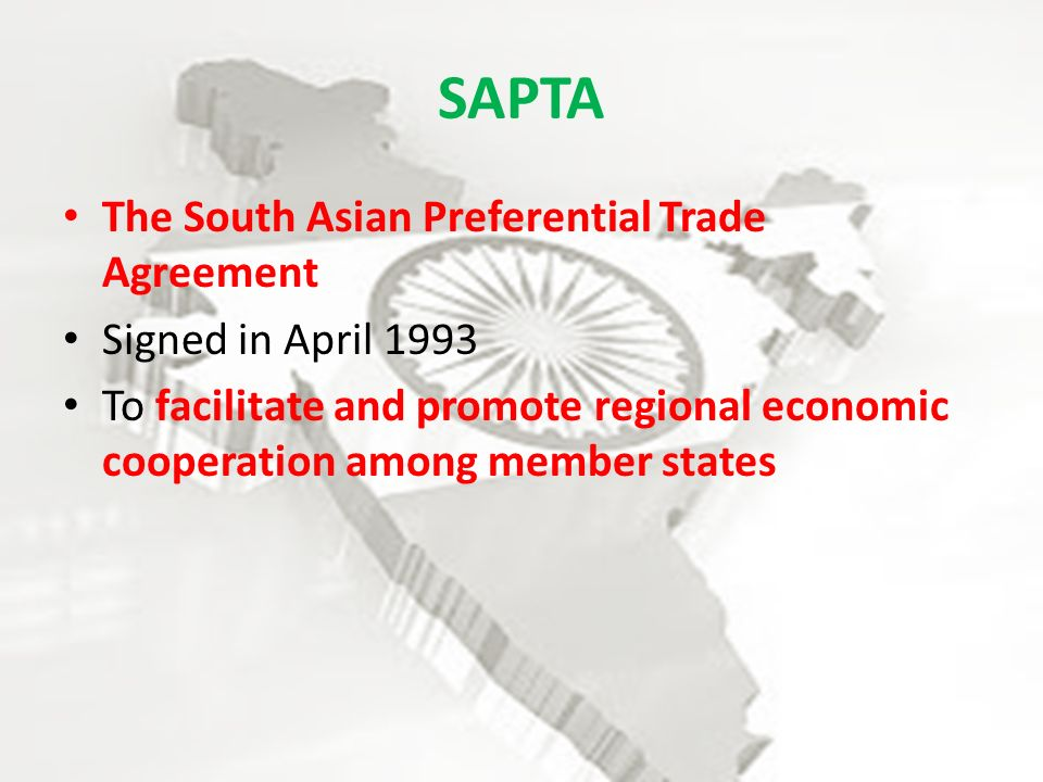 South Asian Preferential Trading Agreement Bhim