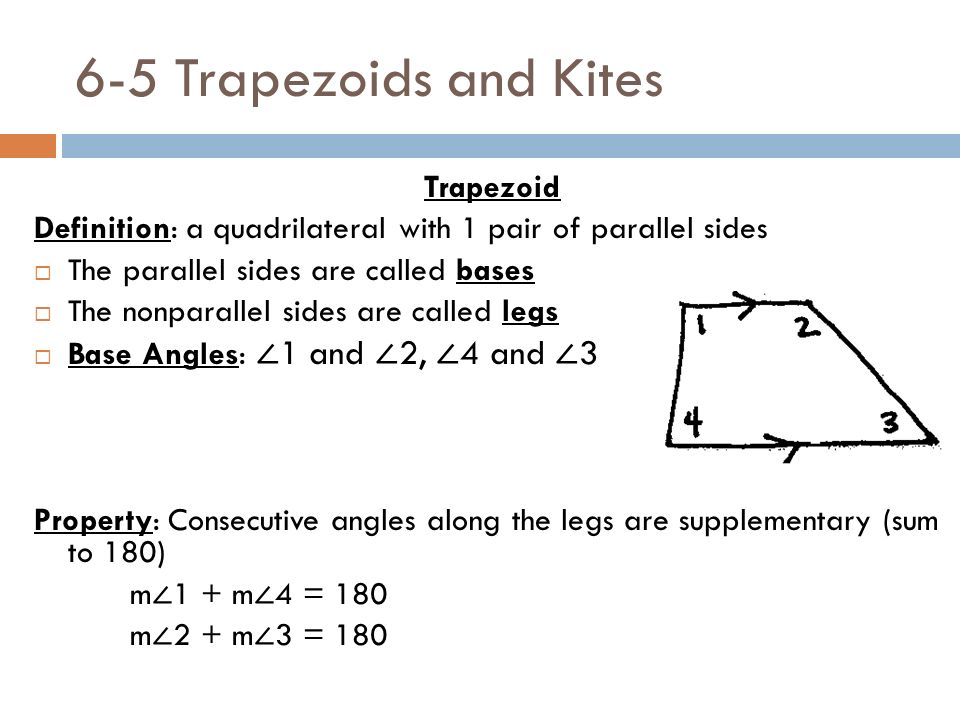6-6 homework trapezoids and kites