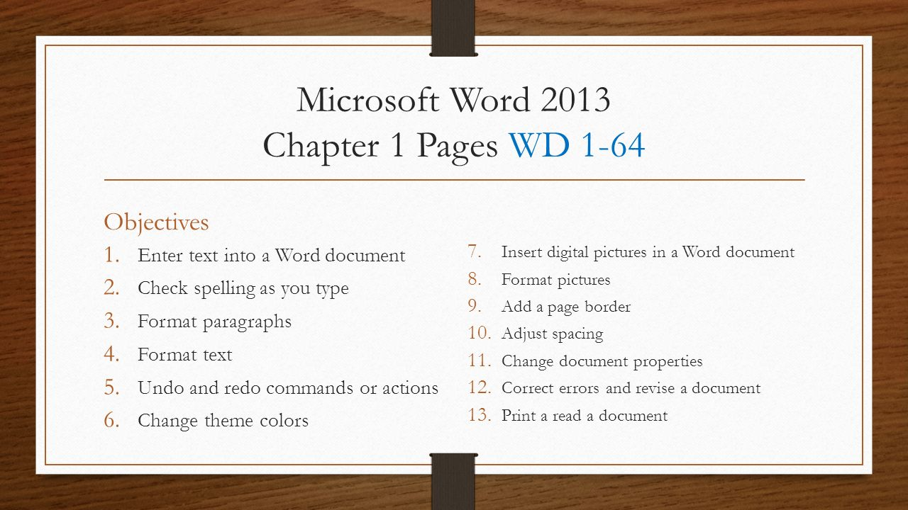 Microsoft Word 2013 Chapter 1 Pages WD 64