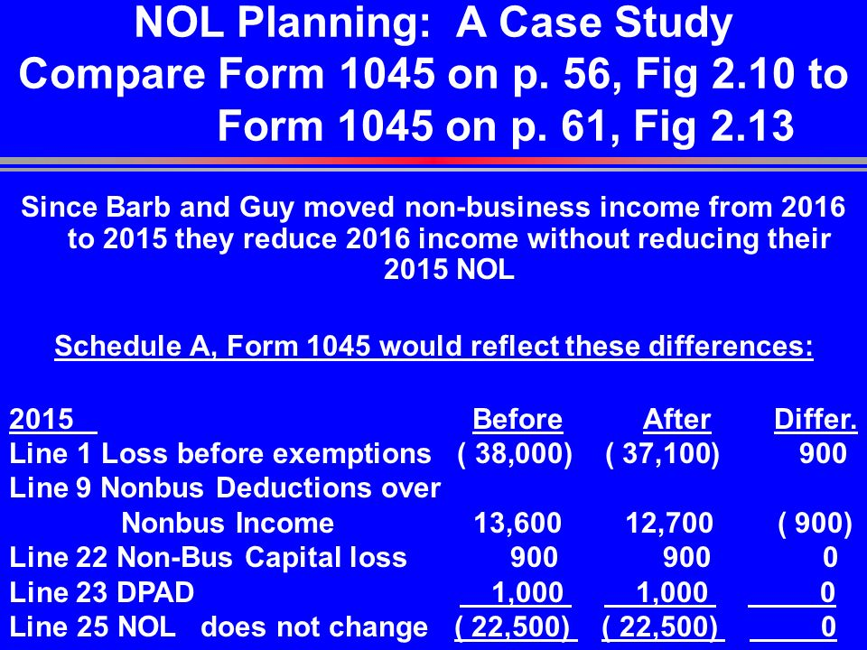 Net Operating Losses Chapter 2 Pp Ppt Download