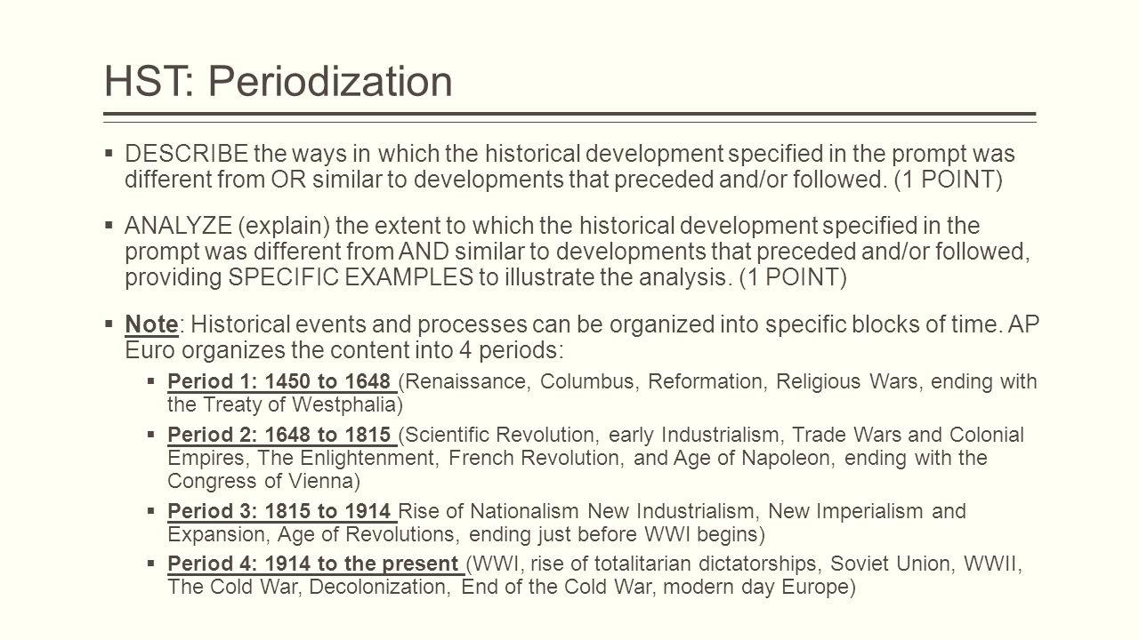 periodization essay ap world