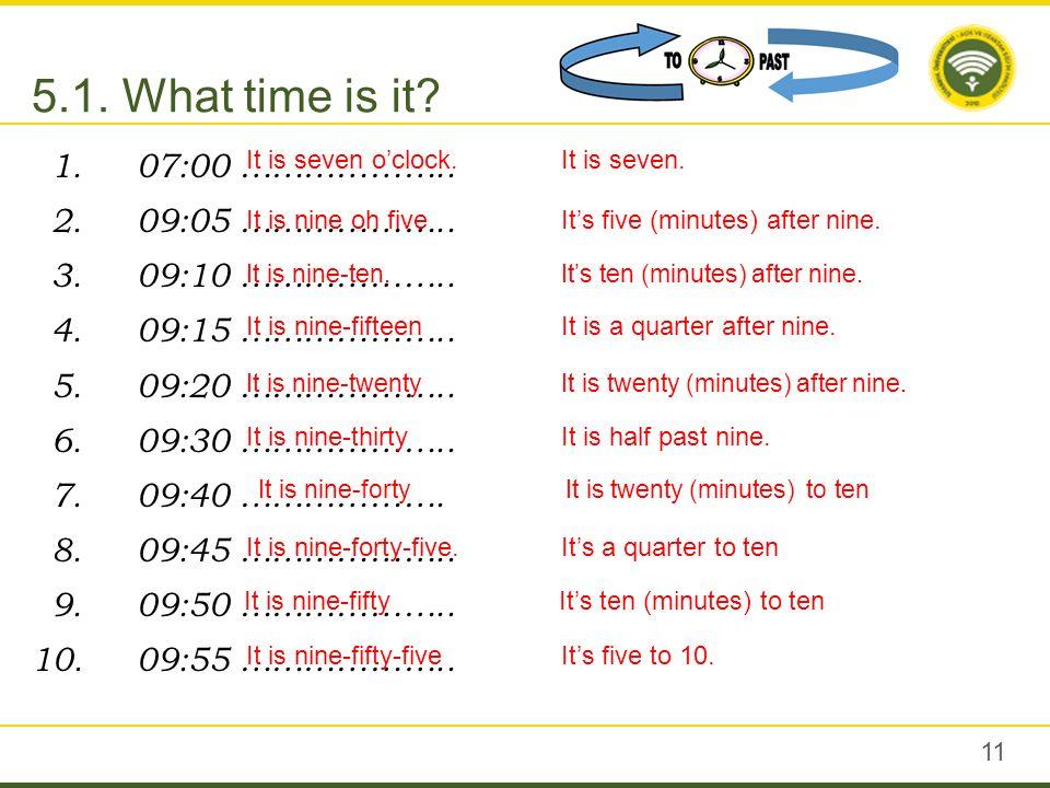 at 7 oclock each morning or late at night