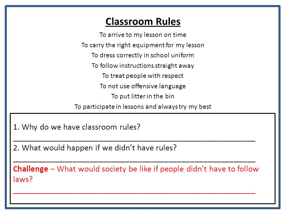 why is it important to follow rules
