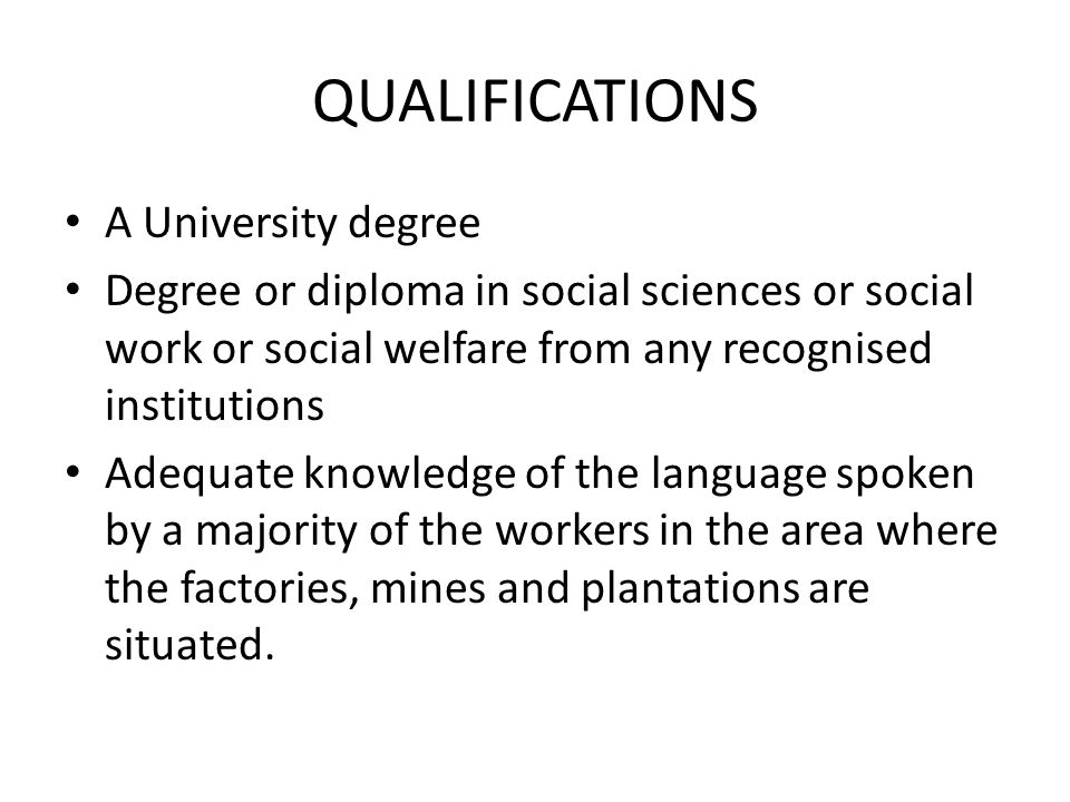 role of welfare officer