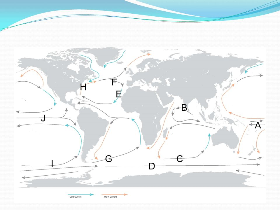 Ocean Currents Please Take A Copy Of The Blank. 5 F H E B J A G C I D. Worksheet. Ocean Current Worksheet At Mspartners.co