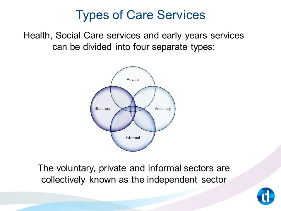 types of provision in health and social care