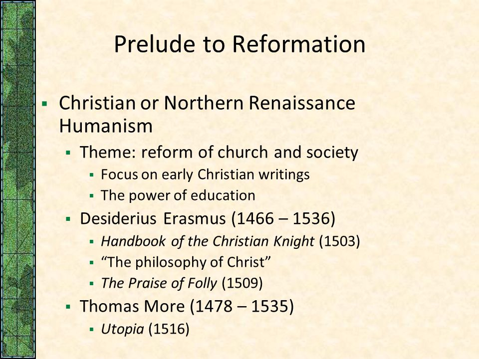 Reformation And Religious Warfare In The Sixteenth Century Ppt