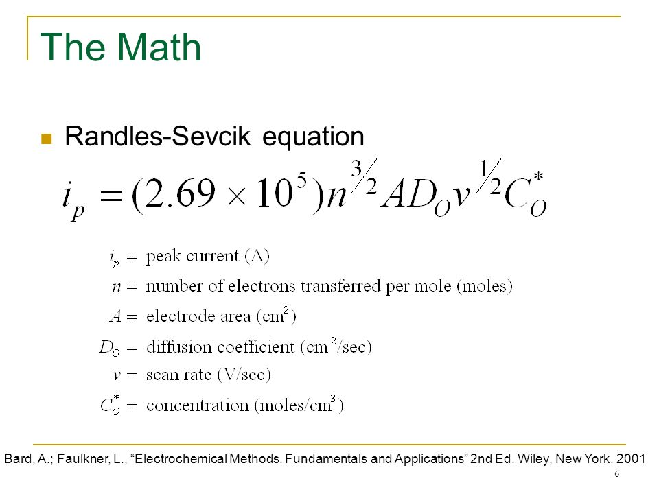 RANDALLS SEVCIK EQUATION DOWNLOAD