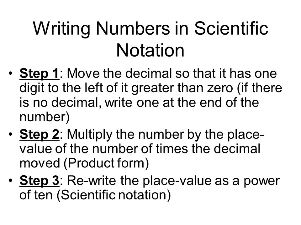 Objective I Will Write Numbers That Are In Standard Form In