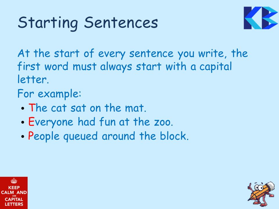 sentence with every letter literacy focus fortnight ppt 267