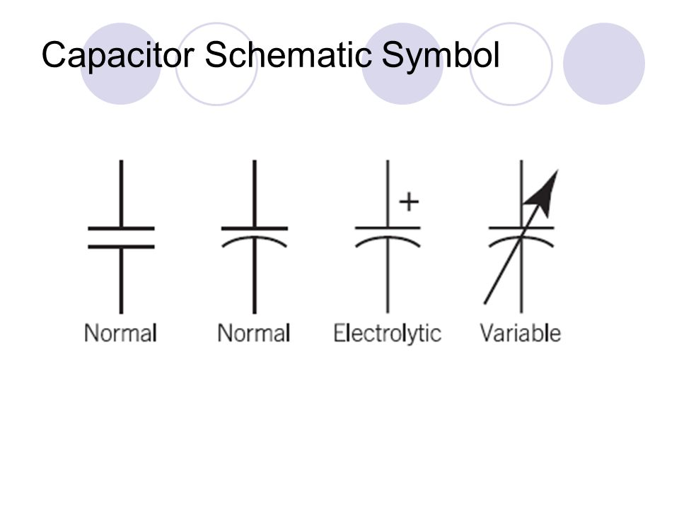 Colorful Schematic Symbol Of Capacitor Adornment - Simple Wiring ...