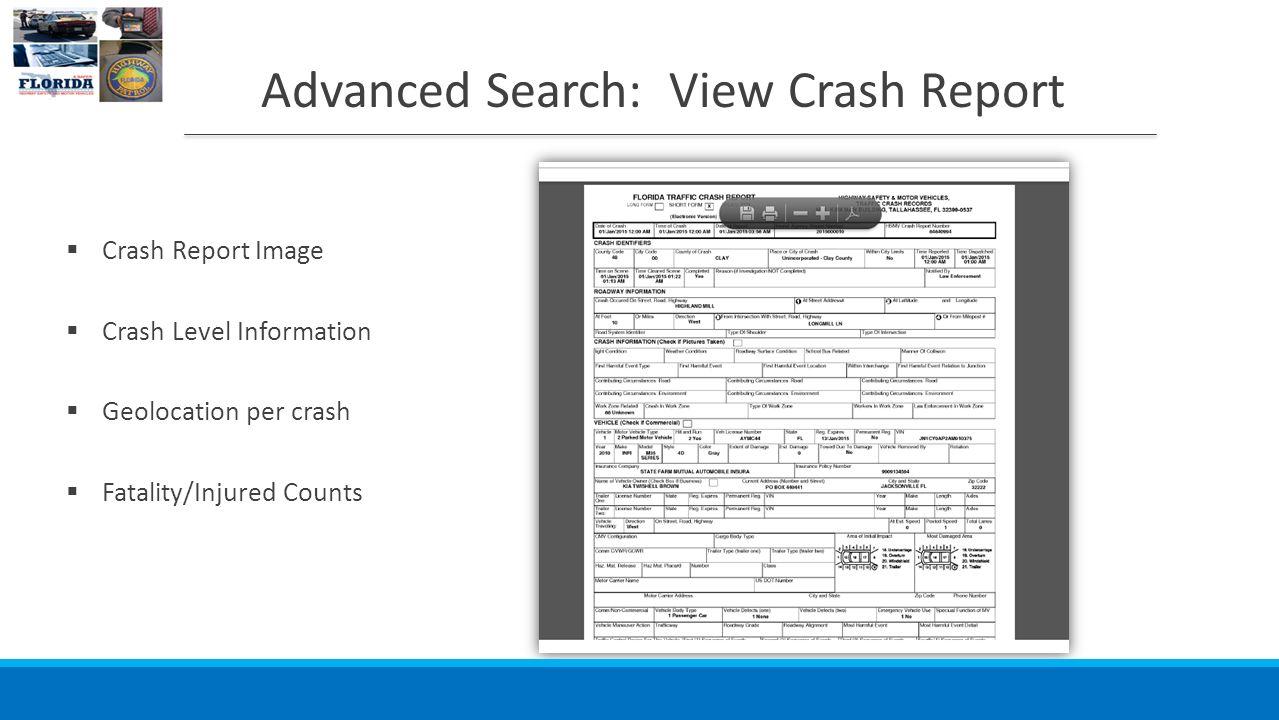 What is FIRES? Web Based Crash Database for Florida Crash