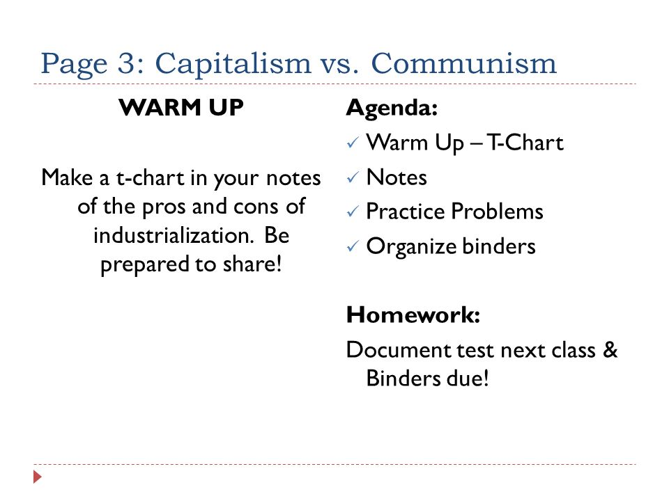 Page 3 Capitalism Vs Communism