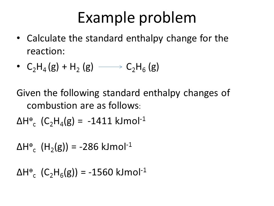formation of ethane equation