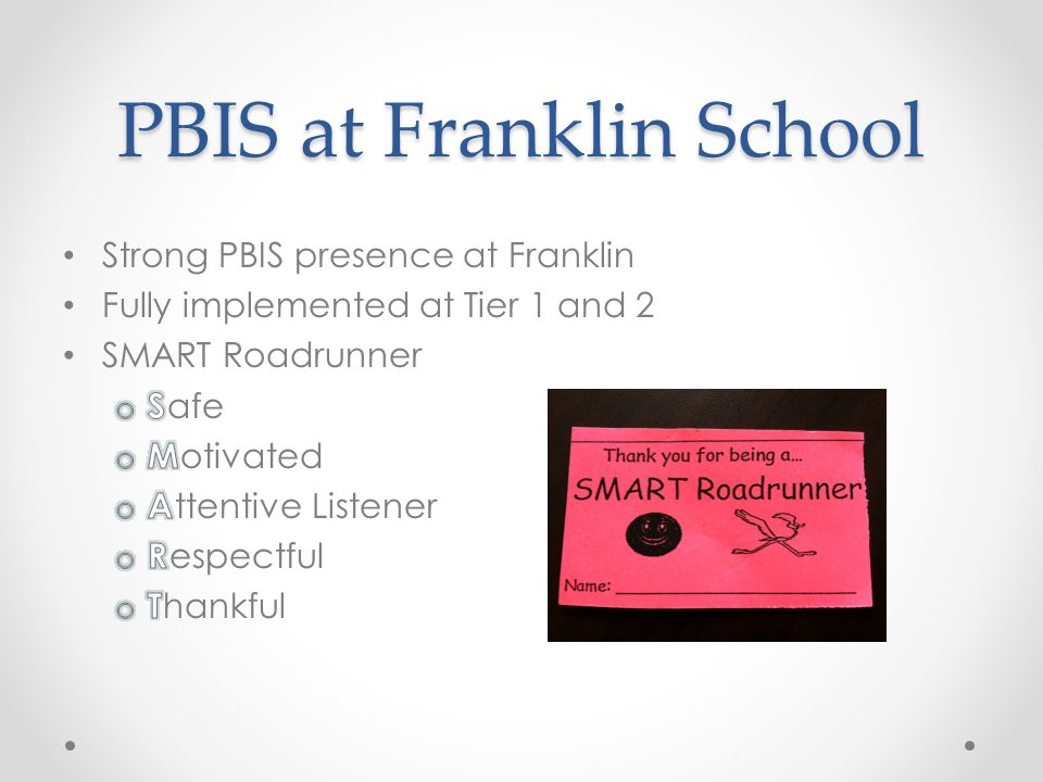 Family Engagement in PBIS at Franklin Elementary School West