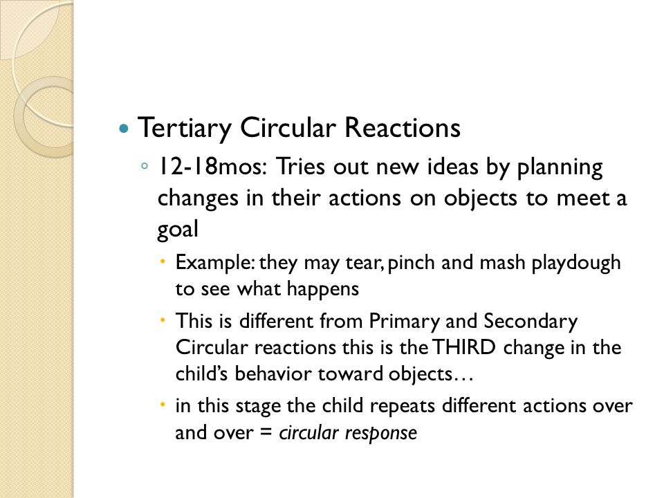 tertiary circular reactions