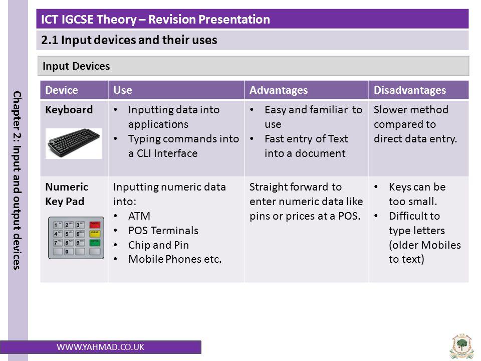 advantages of input devices