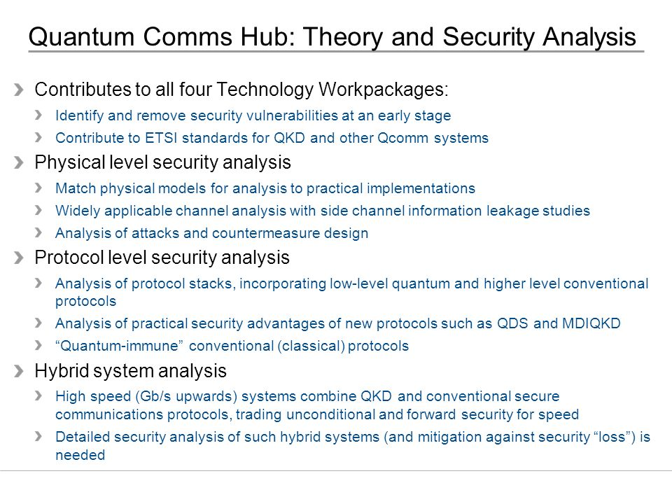 Quantum Comms Hub: Theory and Security Analysis
