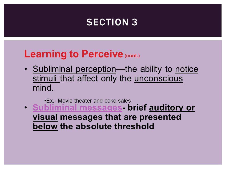 subliminal perception definition