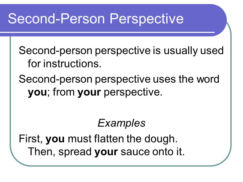 second person narrative examples