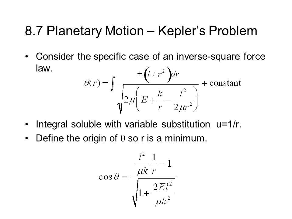 Central-Force Motion Chapter 8 - ppt video online download