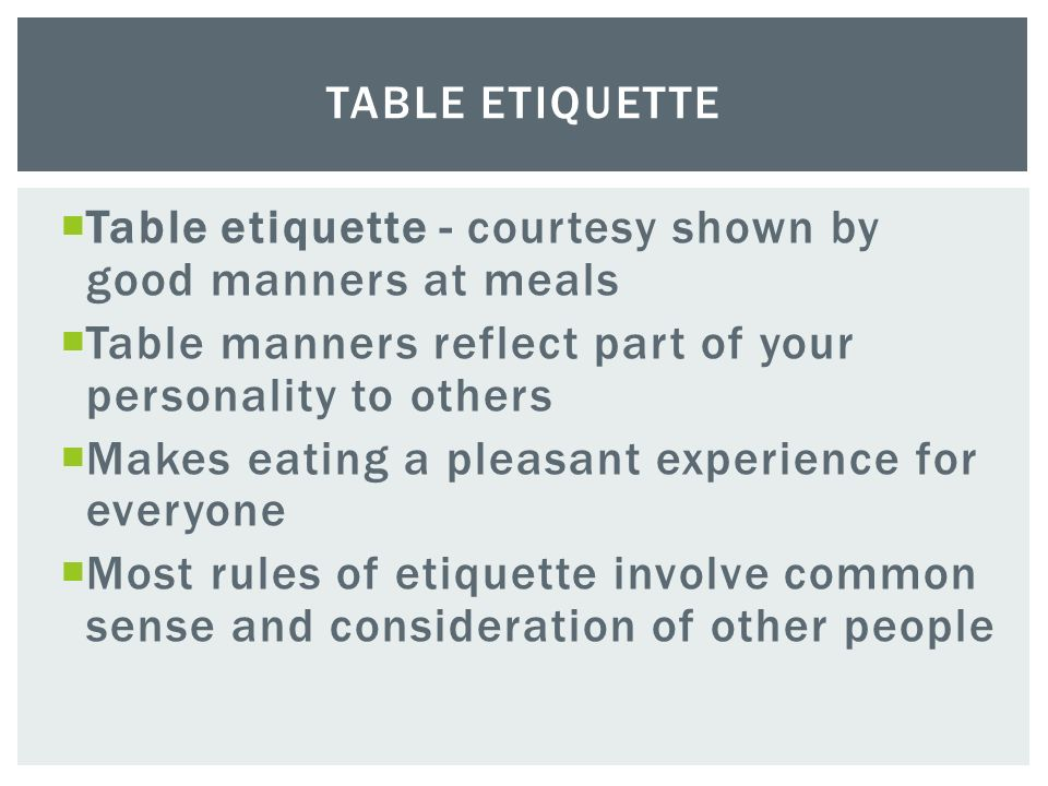 Dating Etiquette - Good Manners and Etiquette