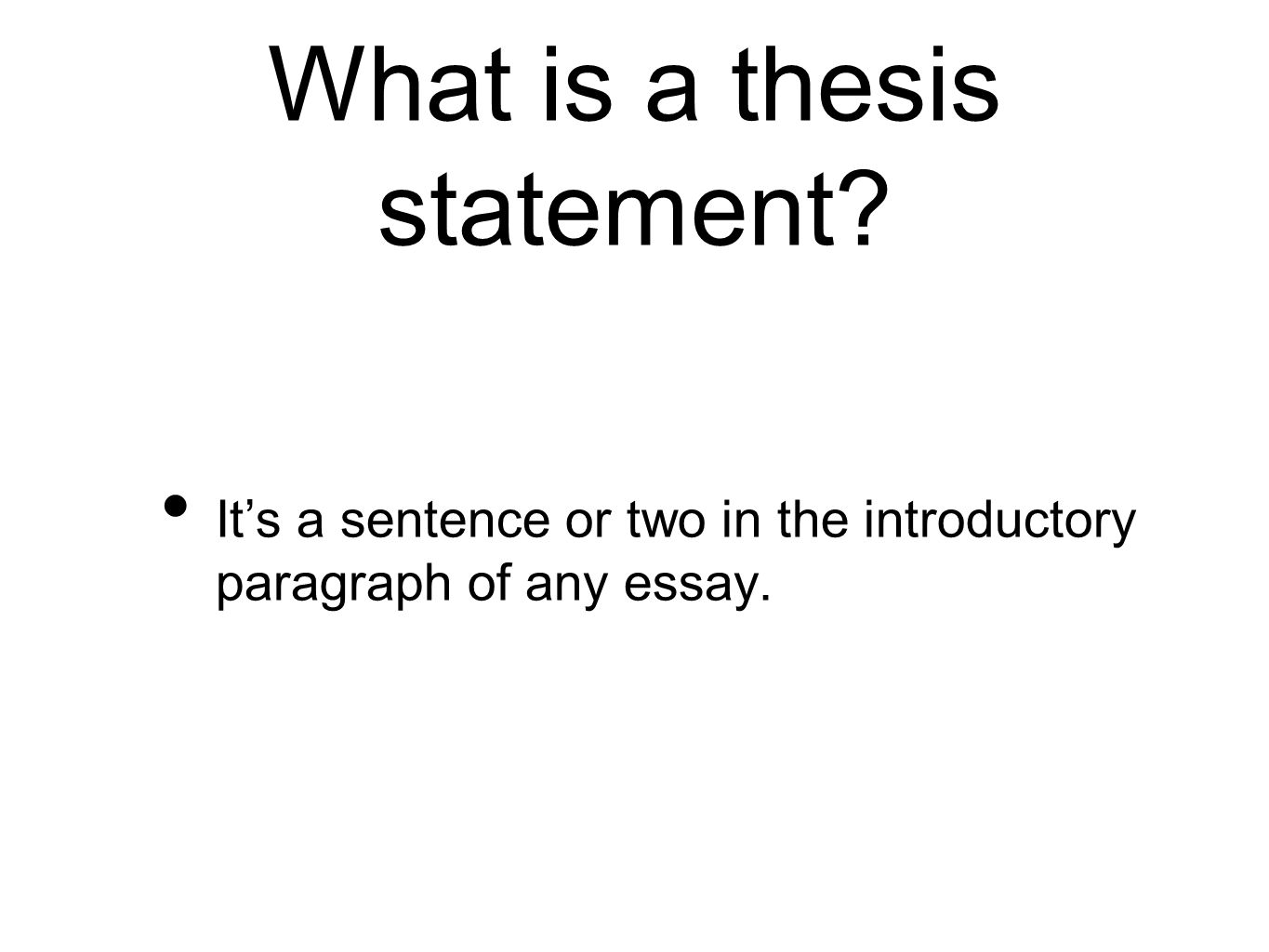 how to create a thesis